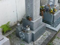 G家様 墓所修理(リフォーム)、防草工事